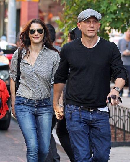 Alltag gemeinsam. Rachel Weisz und Daniel Craig Hand in Hand in New York.