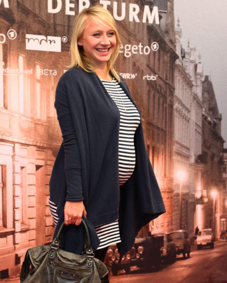 Glücklich: die schwangere Anna Maria Mühe vor Kurzem bei einer Premiere  in Berlin.