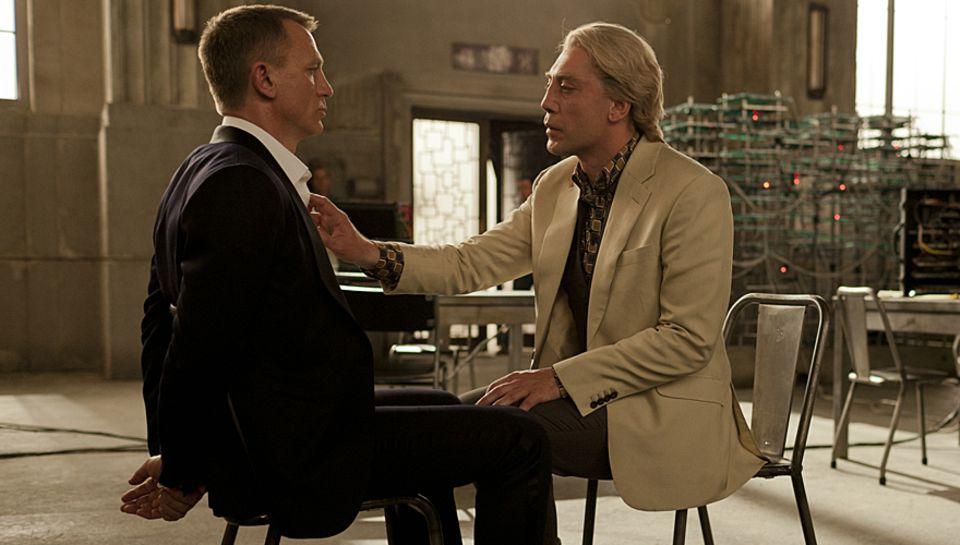 """Genialer Bösewicht: """"Silva"""" (Javier Bardem) will """"James Bond"""" an die Wäsche."""
