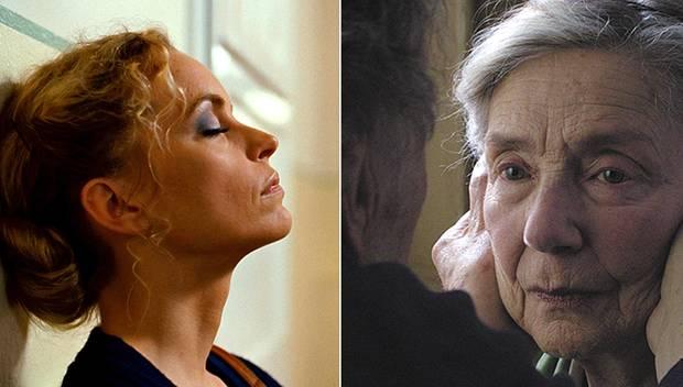 """""""Barbara"""" mit Nina Hoss in der Hauptrolle ist zwei Mal nominiert (links), """"Liebe"""" geht beim Europäischen Filmpreis mit sechs Nom"""