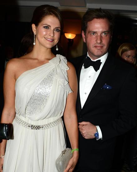 Prinzessin Madeleine und Chris O'neill bei ihrem ersten Auftritt nach der Verlobung.