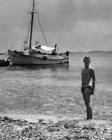 In diesen jungen Mann verliebte Visconti sich auf den ersten Blick: Berger in den Sechzigerjahren auf Mykonos.