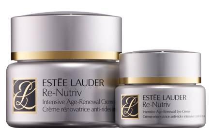 """Re-Nutriv Intensive Age-Renewal Creme"", 50 ml, ca. 225 Euro; ""Re-Nutriv Intensive Age-Renewal Eye Creme"", 15 ml, ca. 110 Euro."