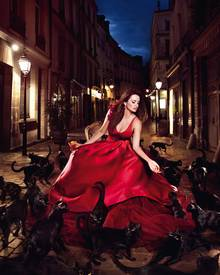 Penelope Cruz mit schwarzen Katzen: Für den Campari-Kalender 2013 wurde die Schauspielerin von Kristian Schuller toll in Szene g