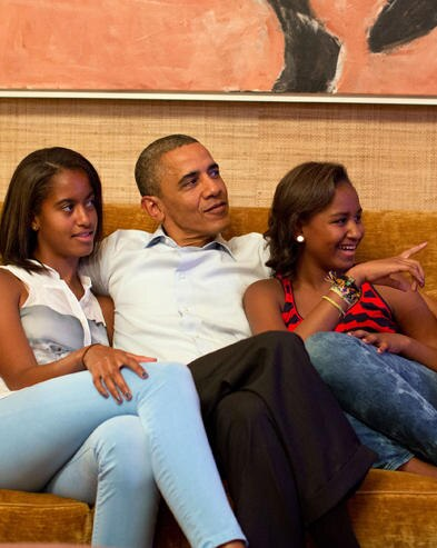 Barack Obama, Malia, Sasha