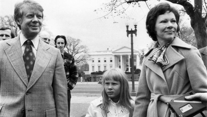 Amy Carter 1978 - 1982: Amy begleitete ihre Eltern schon als Zehnjährige zu Banketten. Heute arbeitet sie für die Stiftung von P