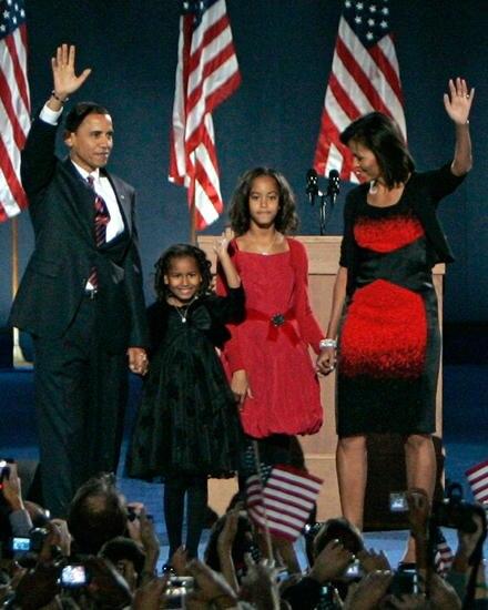 First Kids 2008: Als Barack Obama vor vier Jahren zum ersten Mal Präsident wurde, waren Sasha und Malia sieben und zehn Jahre al