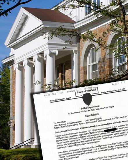 Stephanies Absturz ist der erste große Skandal am Hamilton College in Clinton, New York. Der Polizeibericht besagt:  Die Student