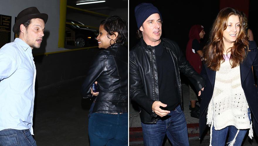 Gut gelaunt zum Konzert: Justin Chambers mit seiner Frau Kesha (links) und Kate Walsh mit ihrem Freund Chris Case (rechts).