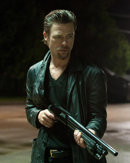 "Filmszene aus ""Killing them softly"" mit Brad Pitt als Killer Jackie Cogan."