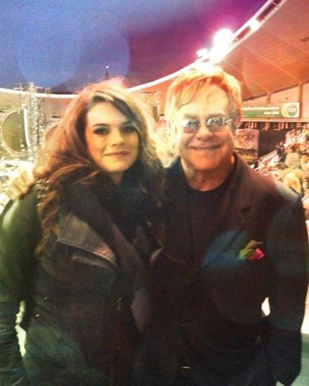 """""""Elton John und ich beim Konzert von Coldplay in Sydney."""""""