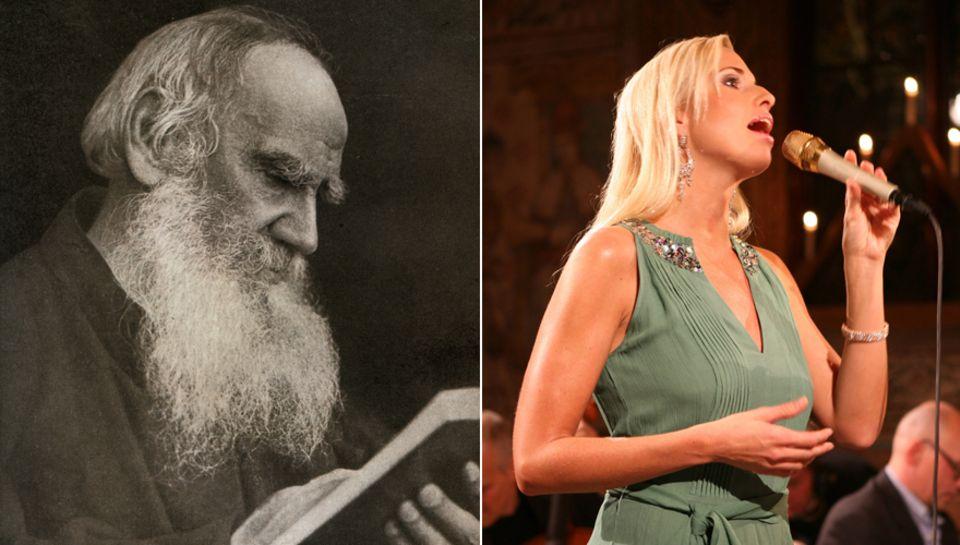 """Links: Leo Tolstoi - Viktorias Ururgroßvater (1928 - 1910) schrieb unter anderem """"Krieg und Frieden"""" und """"Anna Karenina"""", zwei K"""