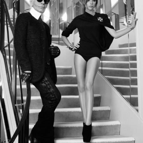 Karl Lagerfeld + Victoria Beckham