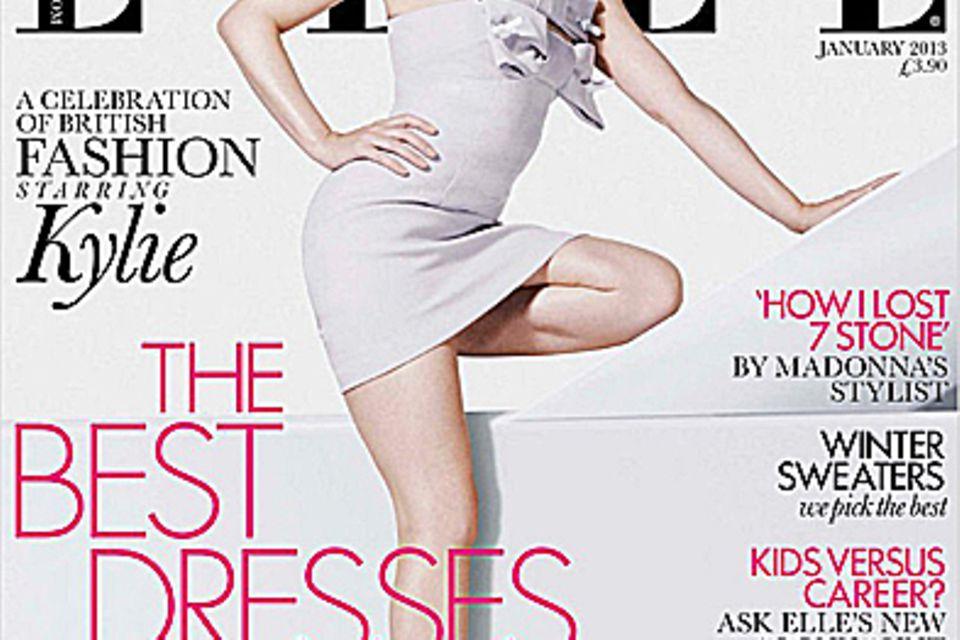 """Kylie Minogue auf dem Cover der """"Elle""""."""