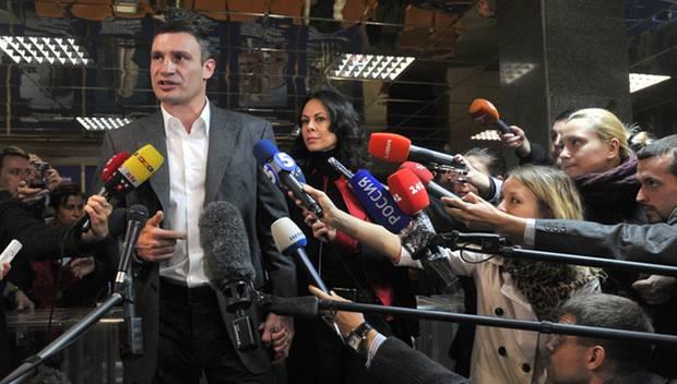 Vitali Klitschko, der Politiker: Mit seiner Partei UDAR schaffte der 41-Jährige gerade den Sprung ins ukrainische Parlament.