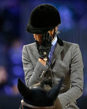Ehrgeizig: Da kamen ihr die Tränen: Beim Amateurwettbewerb schied Charlotte früh aus, weil ihr Pferd verweigerte.