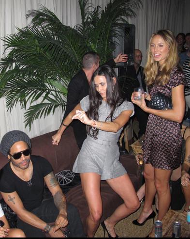 Demi Moore, Lenny Kravitz, Stacey Keibler