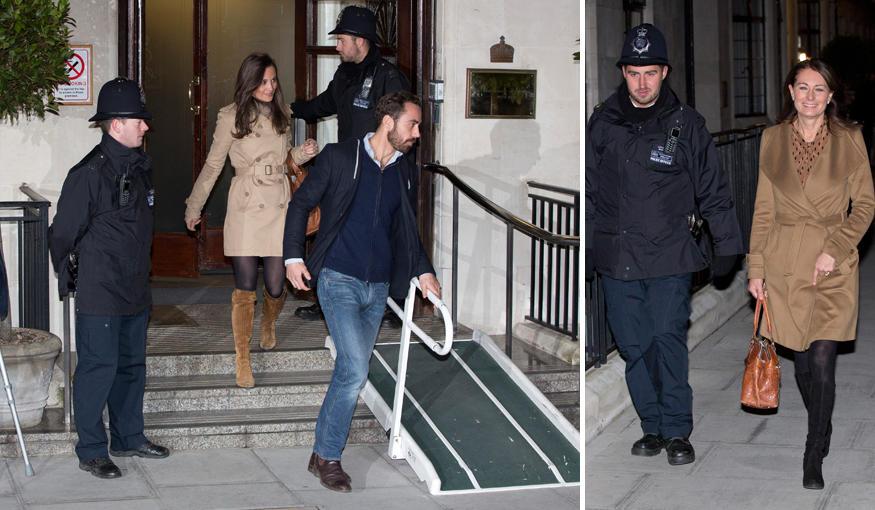 Pippa Middleton, James Middleton und die Mutter, Carole Middleton, besuchen ihre Kate am Mittwoch (5. Dezember) im Krankenhaus u