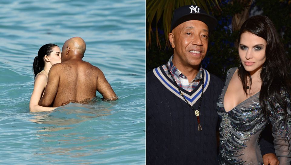 Hana Nitsche udn Russell Simmons zeigen sich schon seit einigen Monaten zusammen auf dem roten Teppich. Am Strand von Miami gehe