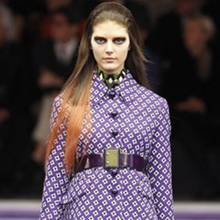 'Prada'-Model mit Dip-Dye-Look