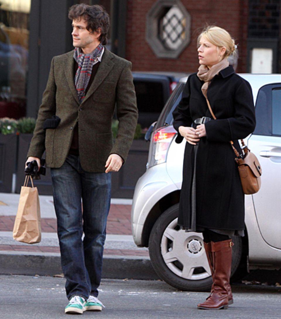 Hugh Dancy und Claire Danes sind in Manhattan unterwegs.