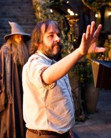 """Regisseur Peter Jackson am Filmset des Fantasy-Abenteuers """"Der Hobbit: eine unerwartete Reise"""""""