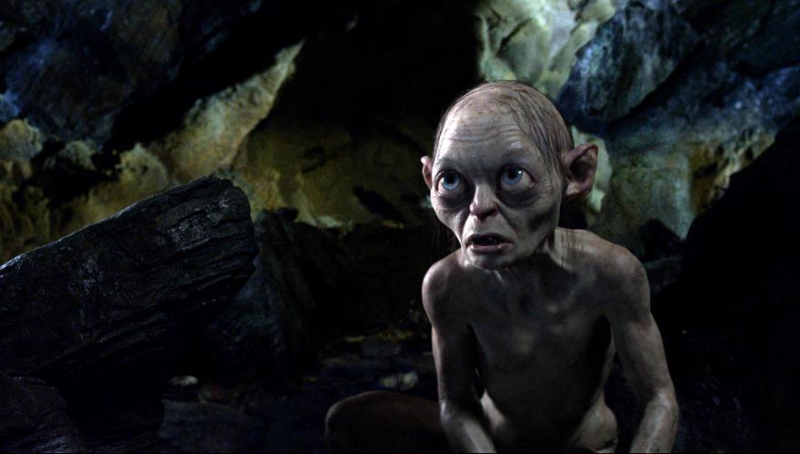 Gollum, von Schauspieler Andy Serkis gespielt und mit aufwendiger Computertechnik täuschend echt zum Leben erweckt.