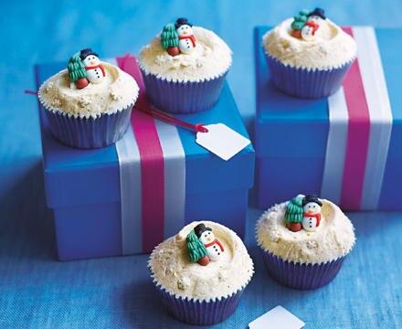 Weihnachtstörtchen - Eggnogg-Cupcakes