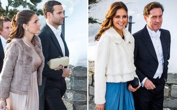 Jonas Bergström und Stephanie af Klercker waren ebenso Gäste der Hochzeit in St. Moritz wie eine strahlend wirkende Prinzessin M