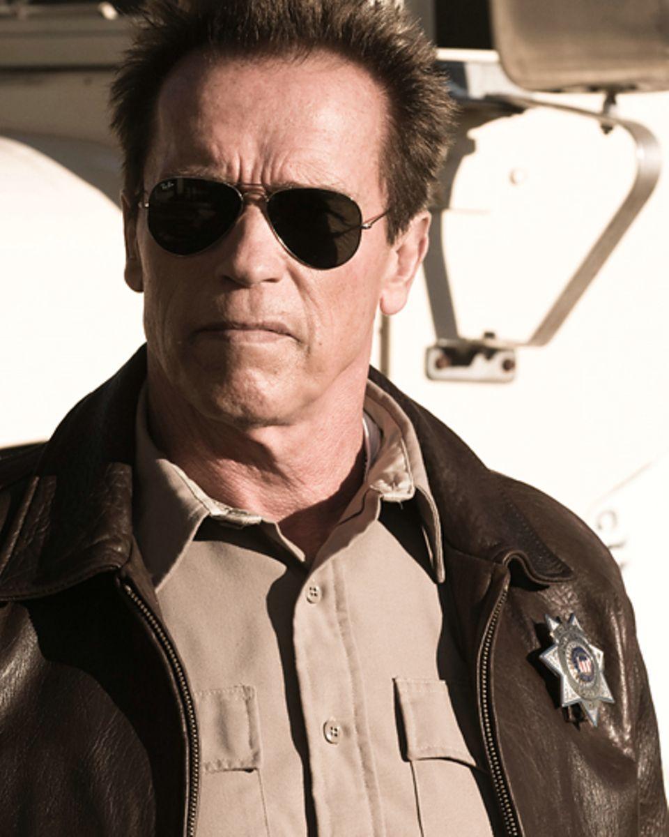 """Sein neuer Film: In """"The Last Stand"""" ist Schwarzenegger ein Sheriff. Mit Action aufhören will er erst, """"falls ich irgendwann im"""