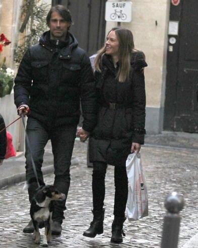 Hilary Swank und Laurent Fleury