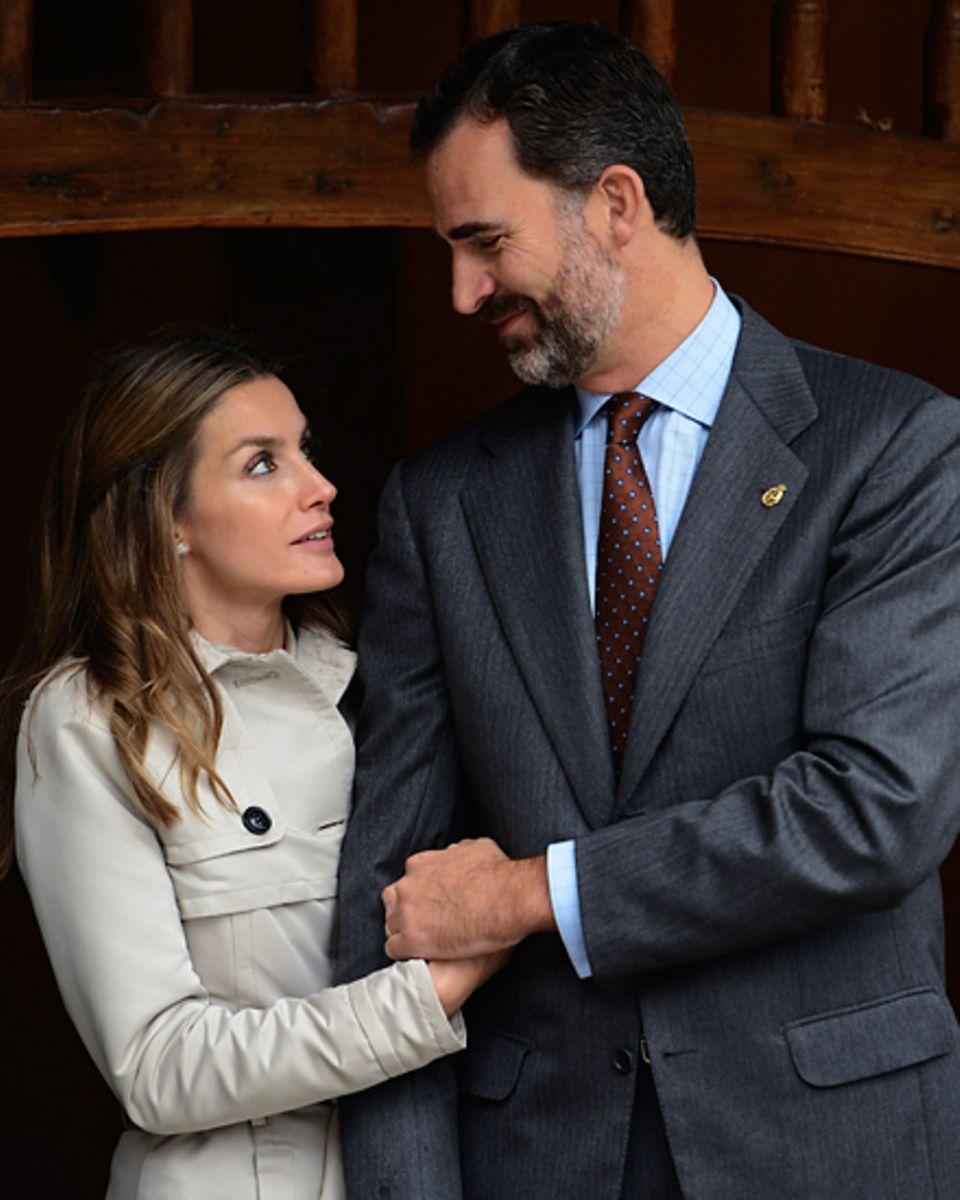 Hoffnungsträger: Kronprinz Felipe und seine Frau Letizia sind die Einzigen in der spanischen Königsfamilie, die das Jahr ohne Sk