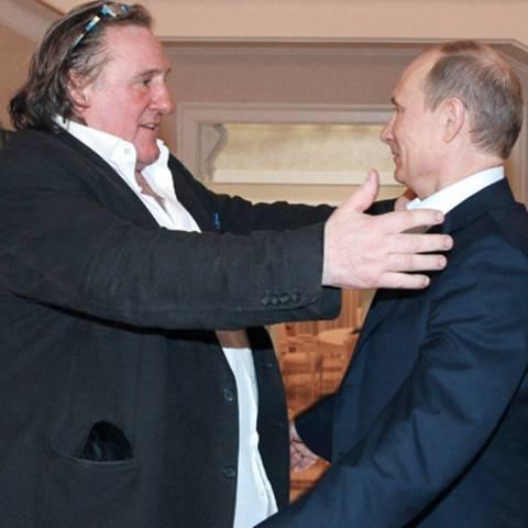 Gerard Depardieu mit Putin