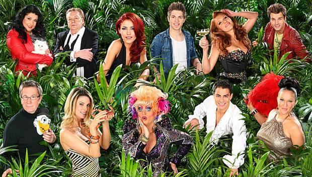 Die neuen Dschungelcamper: (oben von links) Iris Klein, Helmut Berger, Fiona Erdmann, Joey Heindle, Georgina, Patrick Nuo, (unte
