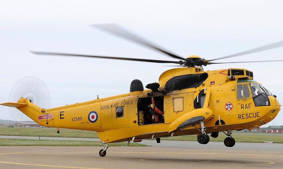 Wer in Nordwales in Gefahr gerät, könnte von Prinz William im Sea-King-Hubschrauber gerettet werden