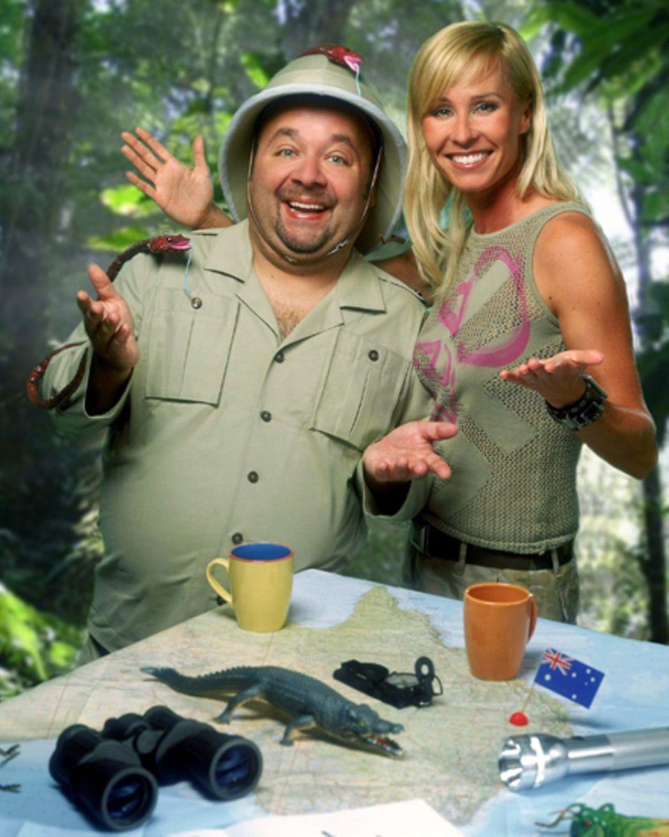 Das frühere Dreamteam: Sonja Zietlow mit Dirk Bach, der am 1. Oktober 2012 starb.