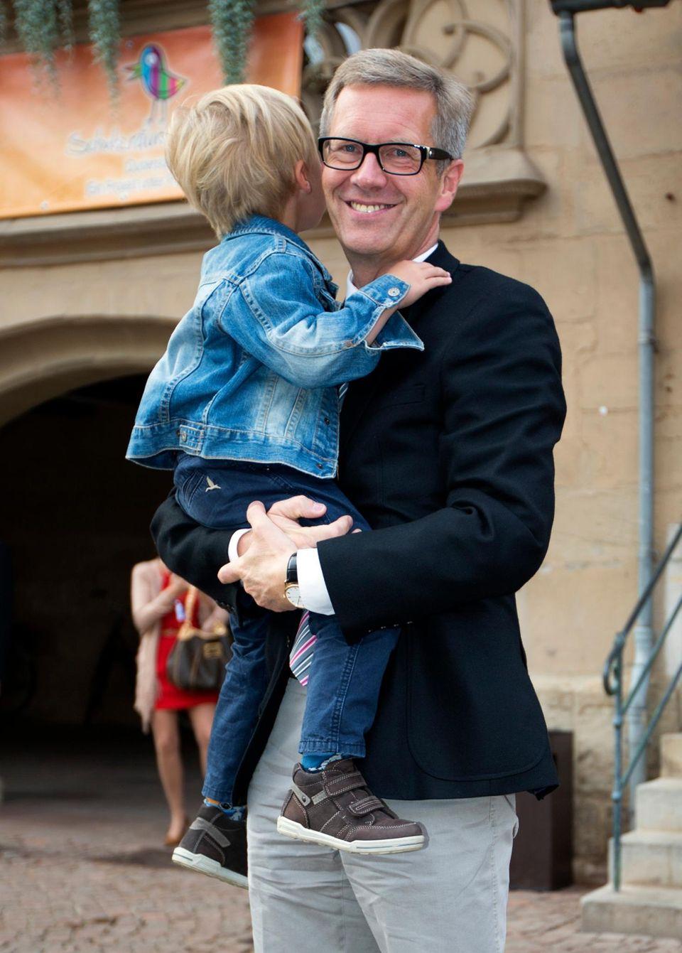 Christian Wulff mit Linus