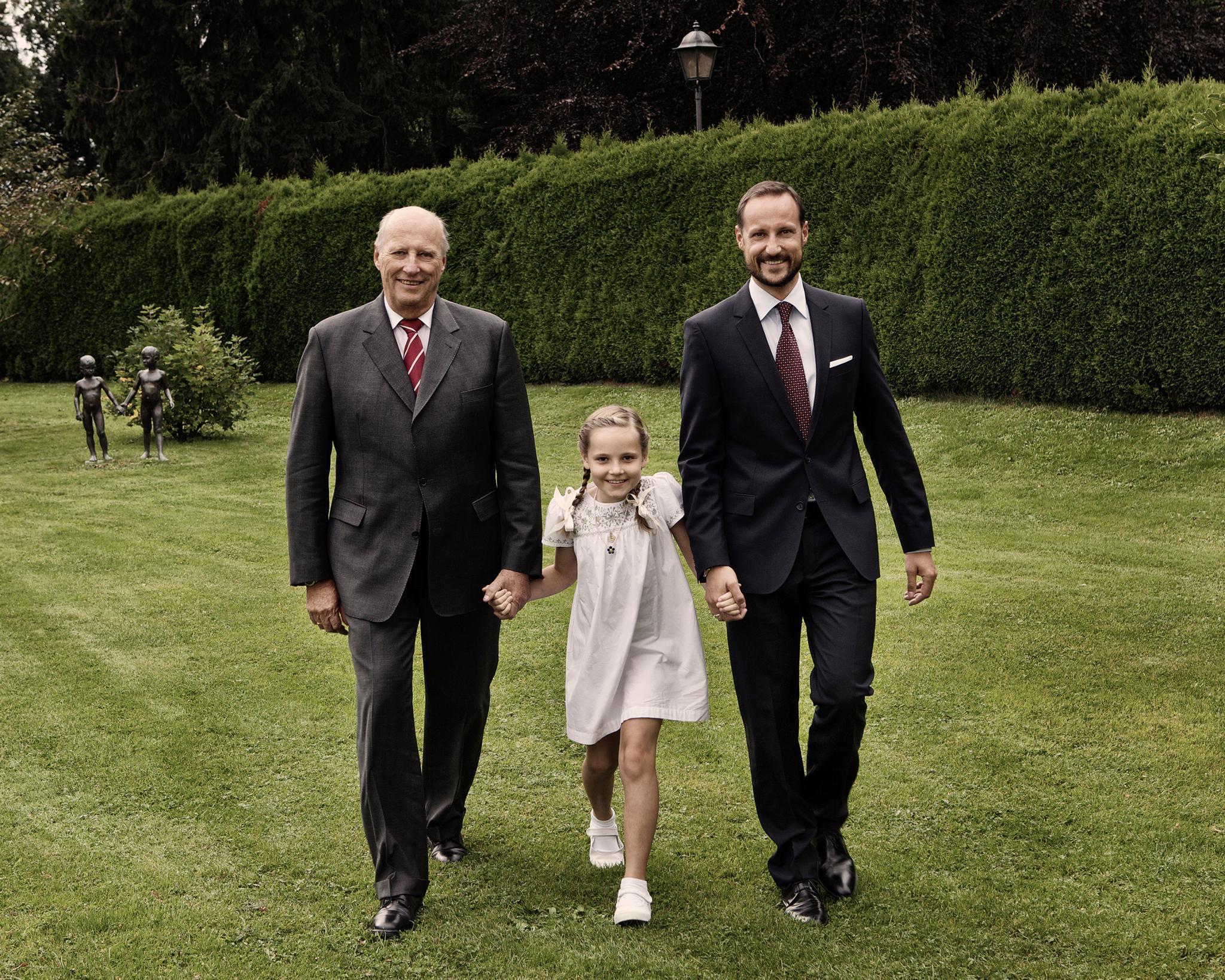 König Harald, Prinzessin Ingrid Alexandra, Kronprinz Haakon