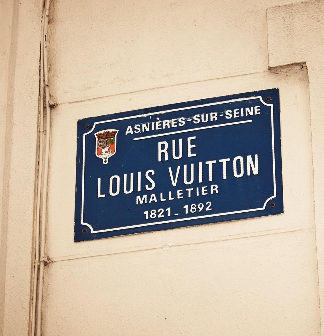 Familie Vuitton: Schon das Straßenschild verrät, wer hier lebt.