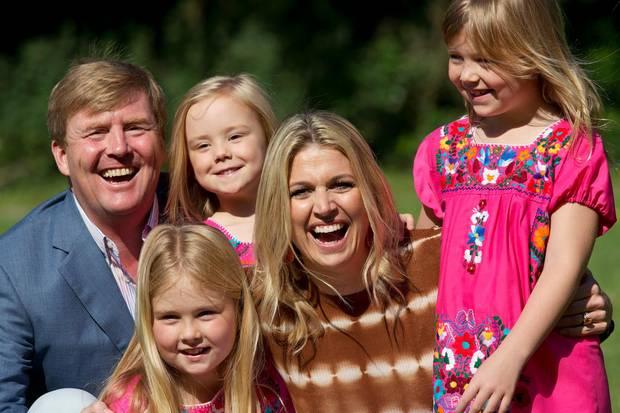 Prinz Willem-Alexander und Prinzessin Máxima mit ihren Kindern Ariane, Alexia und Amalia