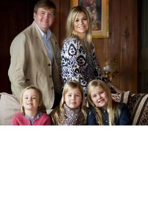 Willem-Alexander, Maxima, Ariane, Alexia, Catharina-Amalia