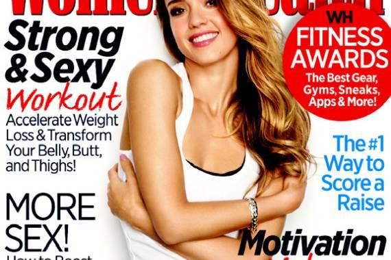 """Jessica Alba auf dem Cover der aktuellen """"Women's Health"""""""