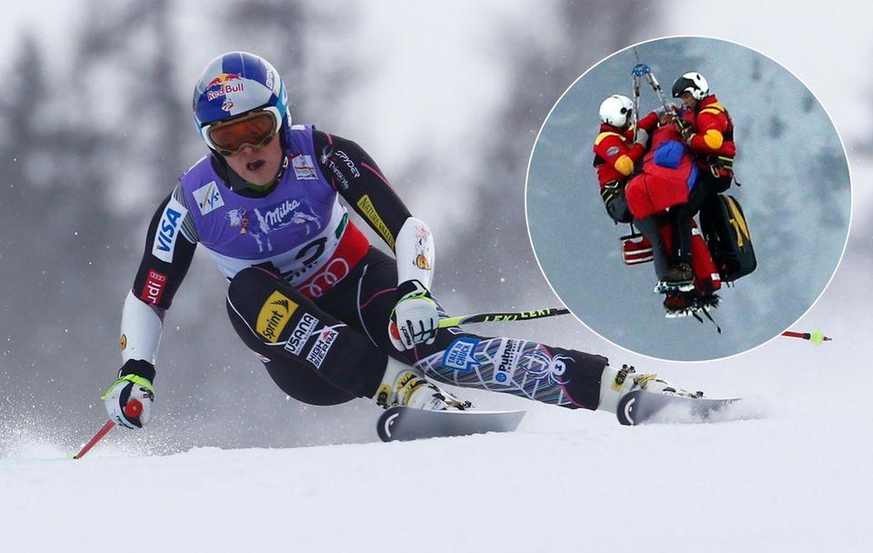Unglücksfahrt: Lindsey Vonn galt vergangene Woche als Gold-Favoritin beim Super-G der alpinen Ski-WM in Schladming - kraftvoll startete sie ins Rennen. Dann der Sturz am sogenannten Posersprung: Lindsey landete unglücklich und überschlug sich. Mit schweren Verletzungen wurde sie per Helikopter geborgen.