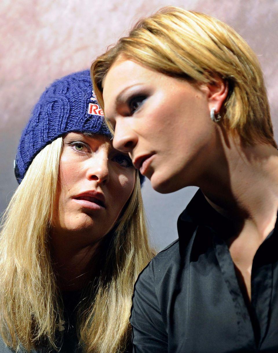 Wer steht ihr wirklich bei? Die deutsche Skirennfahrerin Maria Höfl-Riesch gehört seit Jahren zu Lindsey Vonns Vertrauten.