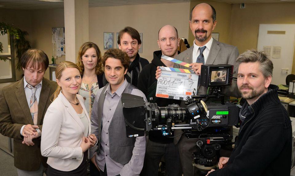 """Die Schauspieler am Set von """"Stromberg - Der Film"""""""