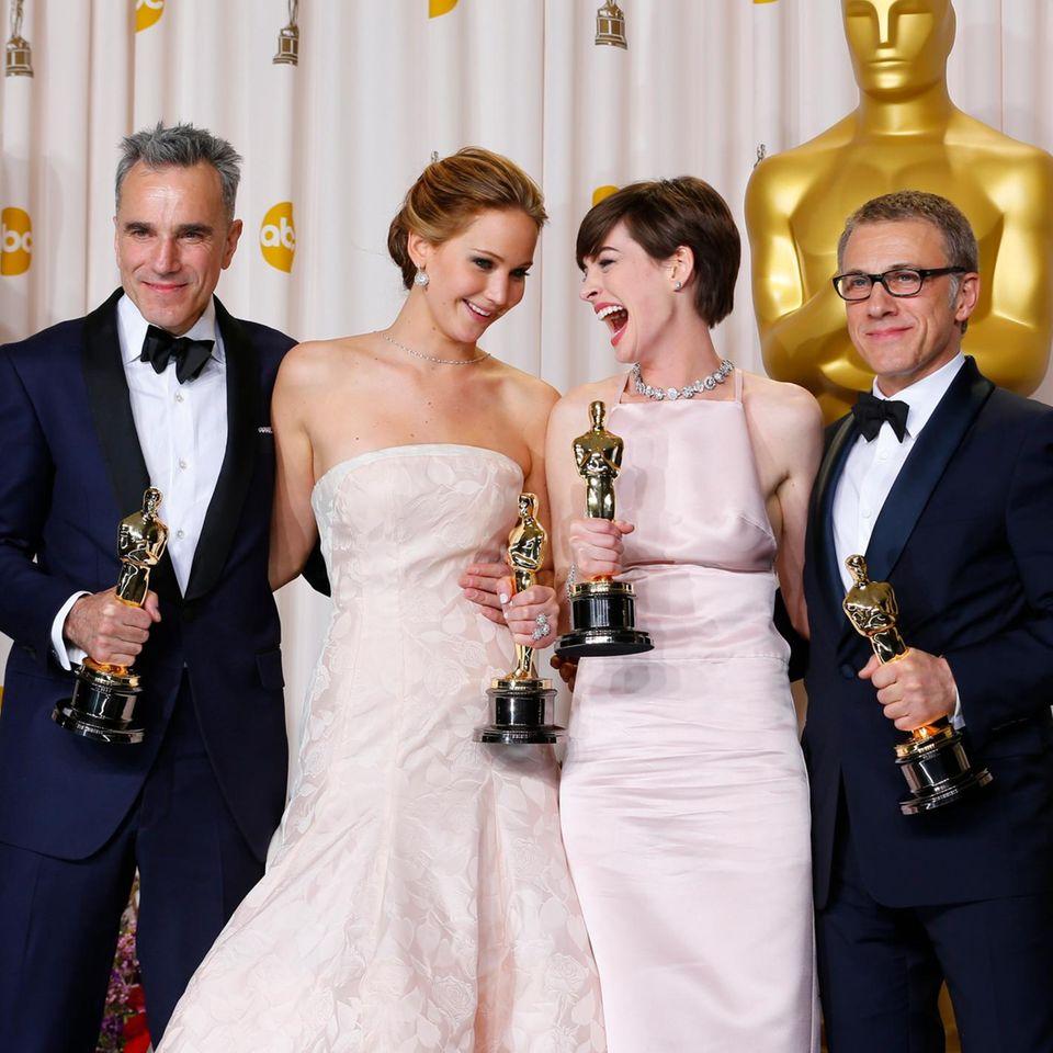Daniel Day Lewis, Jennifer Lawrence, Anne Hathaway, Christoph Walz