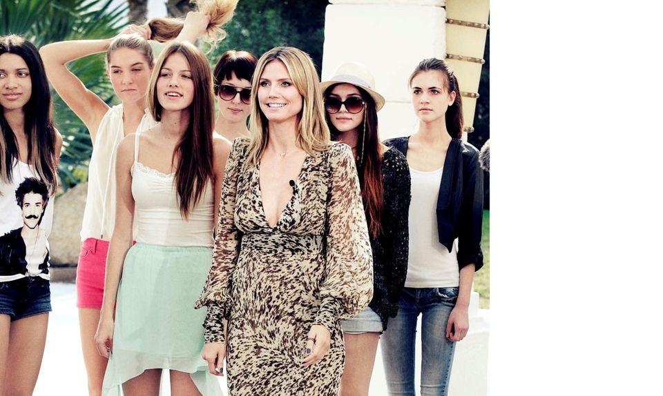 Heidi Klum und Germany ?s next Topmodel Kandidatinnen