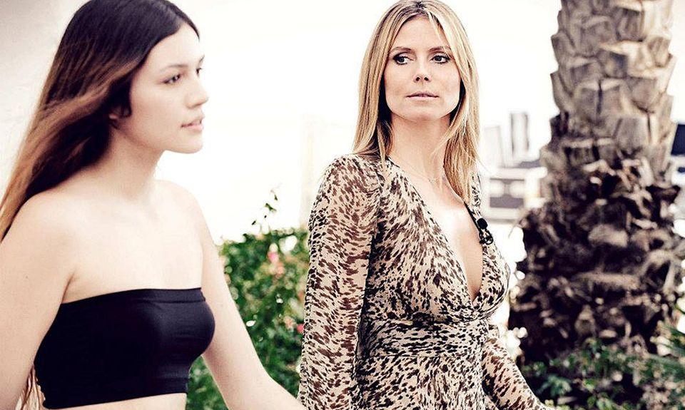 Heidi Klum coacht Topmodel-Anwärterin Anna-Maria.