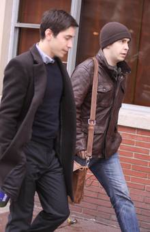 Justin Long mit seinem älteren Bruder Damien in New York.