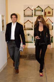 Elle Macpherson mit ihrem Verlobten Jeffrey Soffer.